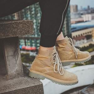 ワークブーツ メンズ 靴 PU革靴 チャッカブーツ スウェード|anothernumber
