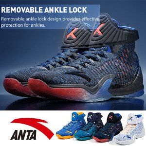 バスケットシューズ メンズ バッシュ ANTA 靴 クレイトンプソンモデル KT3 NBA ハイカッ...