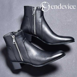 ジョッパーブーツ メンズ 靴 ハイヒール サイドジップブーツ