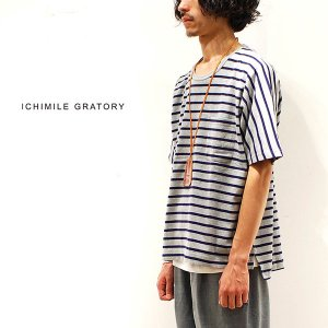 Tシャツ メンズ ICHIMILE GRATORY カットソー 半袖 ボーダー|anothernumber