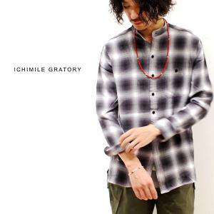 チェックシャツ メンズ ICHIMILE GRATORY 長袖 チェック柄 新作|anothernumber