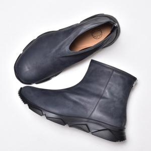 ショートブーツ メンズ 革靴 レザー おしゃれ anothernumber