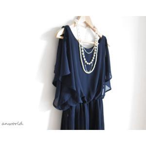 パーティードレス 大きいサイズ 結婚式 ワンピース ドレス  二次会 お呼ばれ フォーマル 体型カバー 20代 30代 40代 春 夏|anplus|07