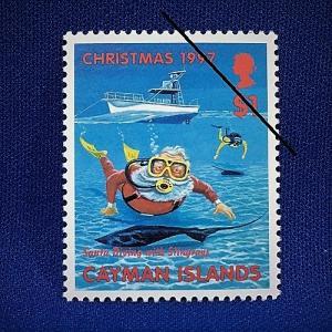 海外切手 海外クリスマス切手 サンタクロース切手 ケイマン諸島切手 #283|anqrenco-monde