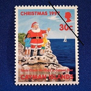 海外切手 海外クリスマス切手 サンタクロース切手 ケイマン諸島切手 #284|anqrenco-monde