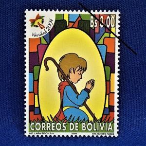 海外切手 海外クリスマス切手 サンタクロース切手 ボリビア切手 #285|anqrenco-monde