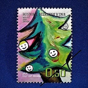 海外切手 海外クリスマス切手 ボスニア切手 #289|anqrenco-monde