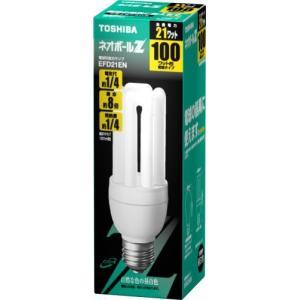 TOSHIBA ネオボールZ 電球形蛍光ランプ 電球100Wタイプ 昼白色 EFD21EN anr-trading