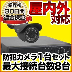 防犯カメラ 監視カメラ レコーダーセット 1台セット アナログ SET-M202SA-1|anshinlife