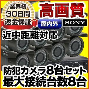 防犯カメラセット 監視カメラ レコーダーセット 8台セット アナログ SET-M401SA-8|anshinlife
