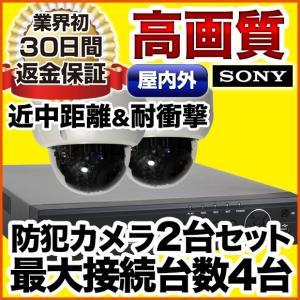 防犯カメラセット 監視カメラ レコーダーセット 屋外防水ドーム SET-M601-2 アナログ SONYセンサー|anshinlife
