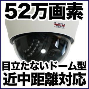 ドーム型 防犯カメラ 監視カメラ/52万画素 暗視・屋内・近中距離 アナログ SX-PDM41VR|anshinlife