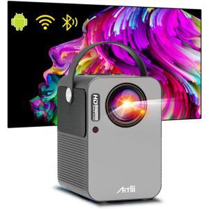 "QKK WiFiプロジェクター 4000LM【100""スクリーンが付属】スマホと直接に接続 ゲーム機..."