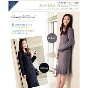 スカートスーツ 感謝セール  結婚式 入学式 入園式 卒業式  卒園式  ツイードスーツ  母 フォ...