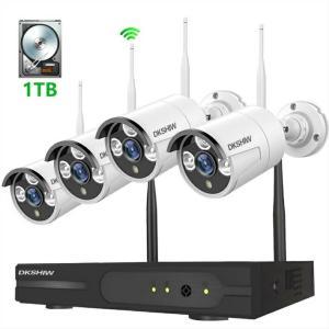 最新WiFi強化版 DKSHIW 防犯カメラセット 200万画素 1080P 8チャンネル スマホ遠...