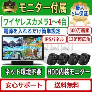 15.6インチモニター付き ワイヤレス防犯カメラセット 2台1080P 200万画素 IP67防水防塵 モーション検知 ナイトビジョン リモート操作 OSX-JPI15.6-W10802 anshinsokubai
