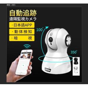 防犯カメラ 1080P 200万画素 動体検知 オートトラッキング 自動追跡 遠隔操作 暗視撮影 日...