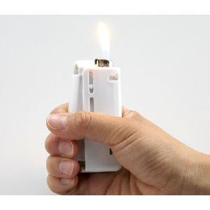 軽着火プッシュライター補助具 日常の着火に 墓参用品 仏壇 ライターなし かる〜く着火のかるちゃっか|ansindo