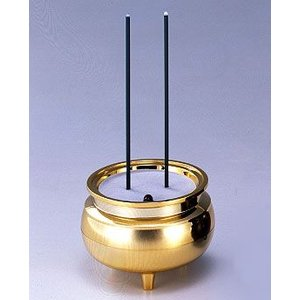 電池式仏具 安心のお線香中サイズ ゴールド 電池式 LED 電子仏具|ansindo