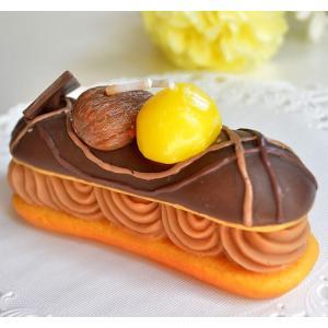 カメヤマキャンドル スイーツキャンドル チョコレートエクレアキャンドル チョコレートの香り付き パーティー ケーキ チョコ プレゼント|ansindo