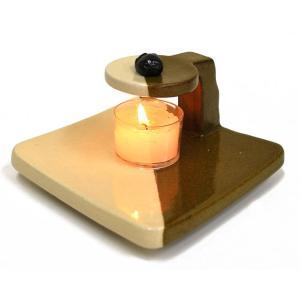 香楽式香炉 白 茶 カップローソク3個付き 練香を焚く香炉|ansindo