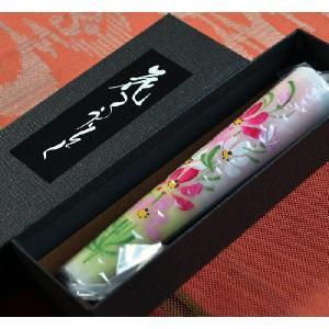 越後花ろうそく 和蝋燭 新潟生まれの手描き絵ろうそく 秋桜 コスモス 15cm1本入り|ansindo