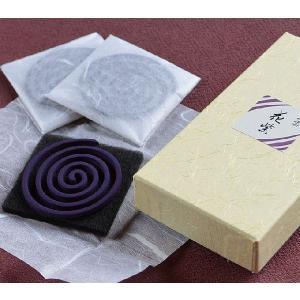すみれの香り 渦巻 みのり苑 和のかおり 流雲シリーズ 花紫・はなむらさき渦巻き10枚入り|ansindo