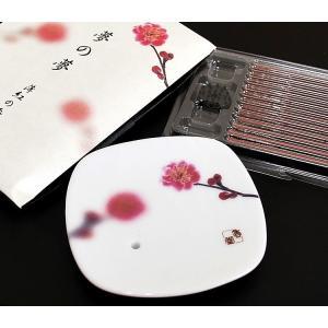 和 香皿 日本香堂 夢の夢 薄紅 うすくれない の香皿 ansindo