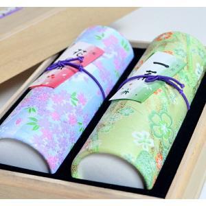 進物線香 奥野晴明堂 花くらべ2種 花の旅 桜 微煙香 一葉 和柄スタンド2本入り 桐箱|ansindo