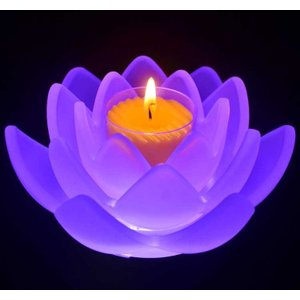 癒しの世界ロータスグレイス フロスト LEDコースターセット 癒しキャンドル 進物ろうそく ギフト|ansindo