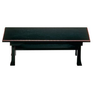 二月堂机 棚板付 黒・ふち朱 1尺8寸