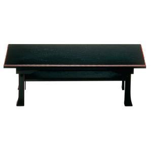 二月堂机 棚板付 黒・ふち朱 3尺|ansindo