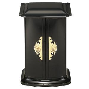 送料無料 厨子型ミニ仏壇 アート仏壇 黒内金 置き型仏壇 厨子型仏壇 コンパクトサイズ|ansindo