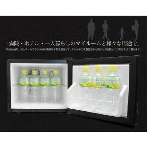 小型冷蔵庫 メーカー5年保証 省エネ17リットル型 Peltismペルチィズム  「Classic black」 ドア左開き 病院・クリニック・ホテル向け冷蔵庫 ミニ 1ドア|antbeeshop|06