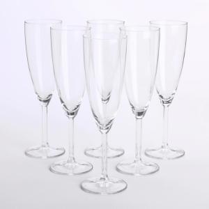 イケア SVALKA シャンパングラス 6ピース クリアガラス ディナー スヴァルカ 食卓 パーティ グラス 輸入|antbeeshop