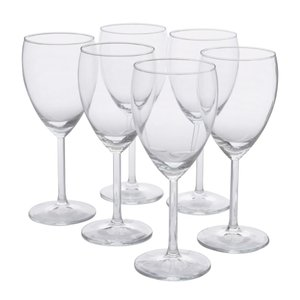 IKEA イケア SVALKA 白ワイングラス 6 ピース クリアガラス ディナー スヴァルカ 食卓 パーティ グラス 輸入|antbeeshop