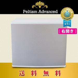 小型冷蔵庫 省エネ17リットル型 Peltism advancedシリーズ Kingdom carbon white (キングダムカーボンホワイト) ドア右開き