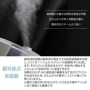 加湿器 AB-UR01 超音波加湿器 Uruon(ウルオン) ブラック/ホワイト アロマフィルター オーガニックアロマオイル対応  リモコン付 antbeeshop 02