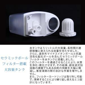 加湿器 AB-UR01 超音波加湿器 Uruon(ウルオン) ブラック/ホワイト アロマフィルター オーガニックアロマオイル対応  リモコン付 antbeeshop 08