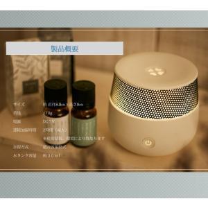 アロマディフューザー UR-AROMA01 卓上 小型 加湿器 Uruon(ウルオン) 超音波加湿器  7色セラピーグラデーションライト|antbeeshop|07