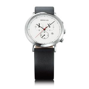 ベーリング 腕時計 ホワイト×ブラック メンズ 10540-404 BERING Mens Calf Leather 時計 バレンタイン