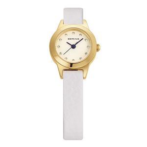 ベーリング 腕時計 11119-834 イエローゴールド×ホワイト レディース BERING Ladies Calf Leather 時計 バレンタイン