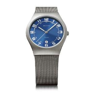 ベーリング 腕時計 ブルー メンズ 11937-07 BERING Mens Ultra Slim Titanium 時計 バレンタイン