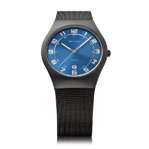 ベーリング 腕時計 ブルー メンズ 11937-227 BERING Mens Ultra Slim Titanium 時計 バレンタイン