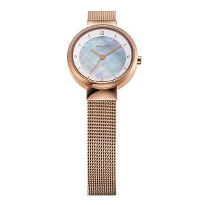 ベーリング Ladies Solar Mini 腕時計 14424-366 ホワイト×ローズゴールド レディース BERING 時計 ホワイトデー