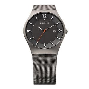 ベーリング 腕時計 14440-077 グレー メンズ BERING Mens Solar 時計 バレンタイン