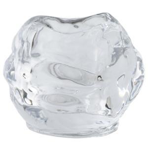 キャンドルホルダー ロックアイス ガラス製 おしゃれ かわいい