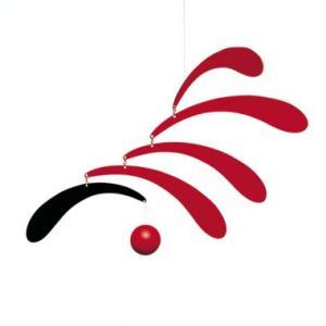 フレンステッド モビール Flowing Rhythm, Red antdesignstore