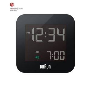 ブラウン BNC008 BNC008BK-RC ブラック アラームクロック デジタルクロック BRAUN 目覚まし時計 置き時計 ホワイトデー