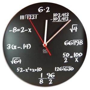 【送料無料】 ポップクイズクロック 掛け時計 ポップクイズクロック 掛け時計 時計 数式 数学 式 ポップ クイズ|antdesignstore